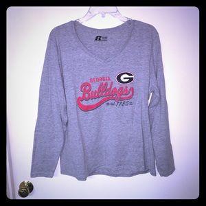 Georgia Bulldogs UGA distressed long sleeve tshirt